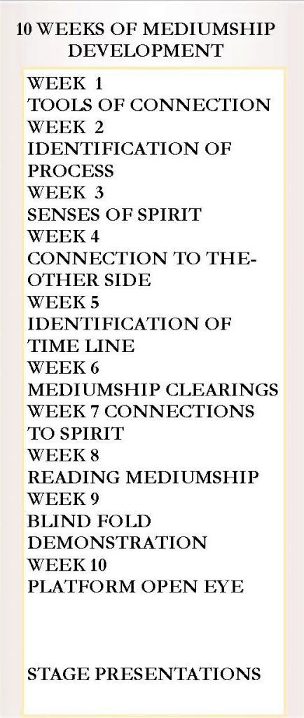 Mediumship & Development Course Flyer - back