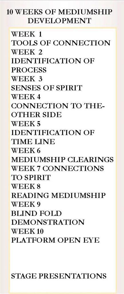 Mediumship & Development Course Flyer - back
