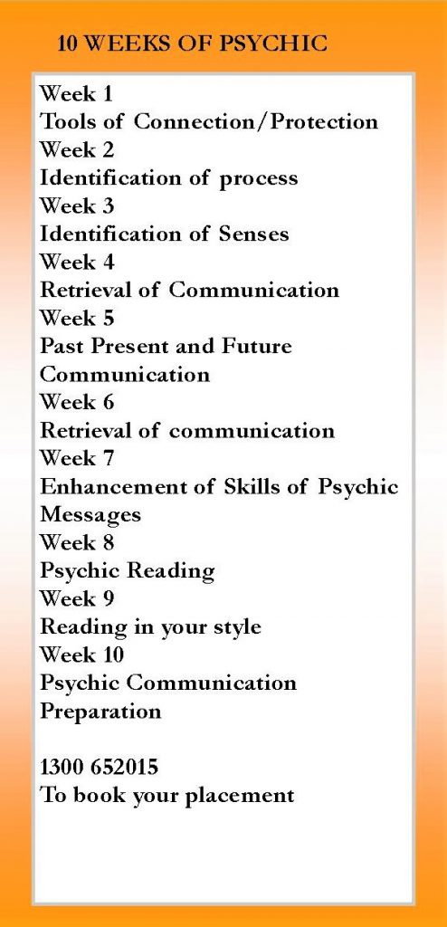 Psychic Development Course Flyer - back